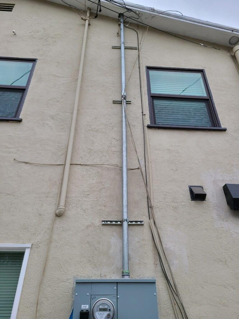 electrical panel mast(riser)