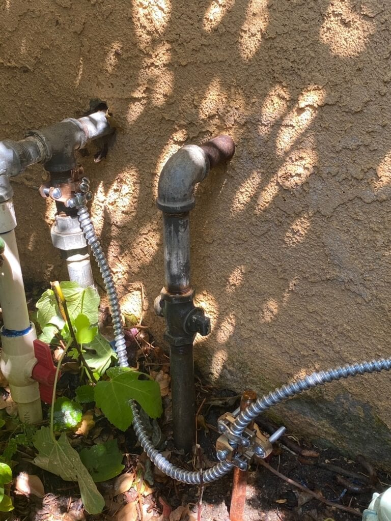 main water line is used as a grounding system