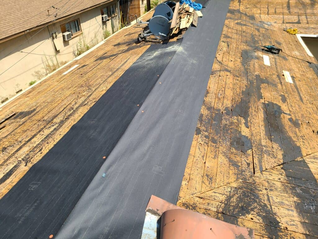 Roof sheathing inspection