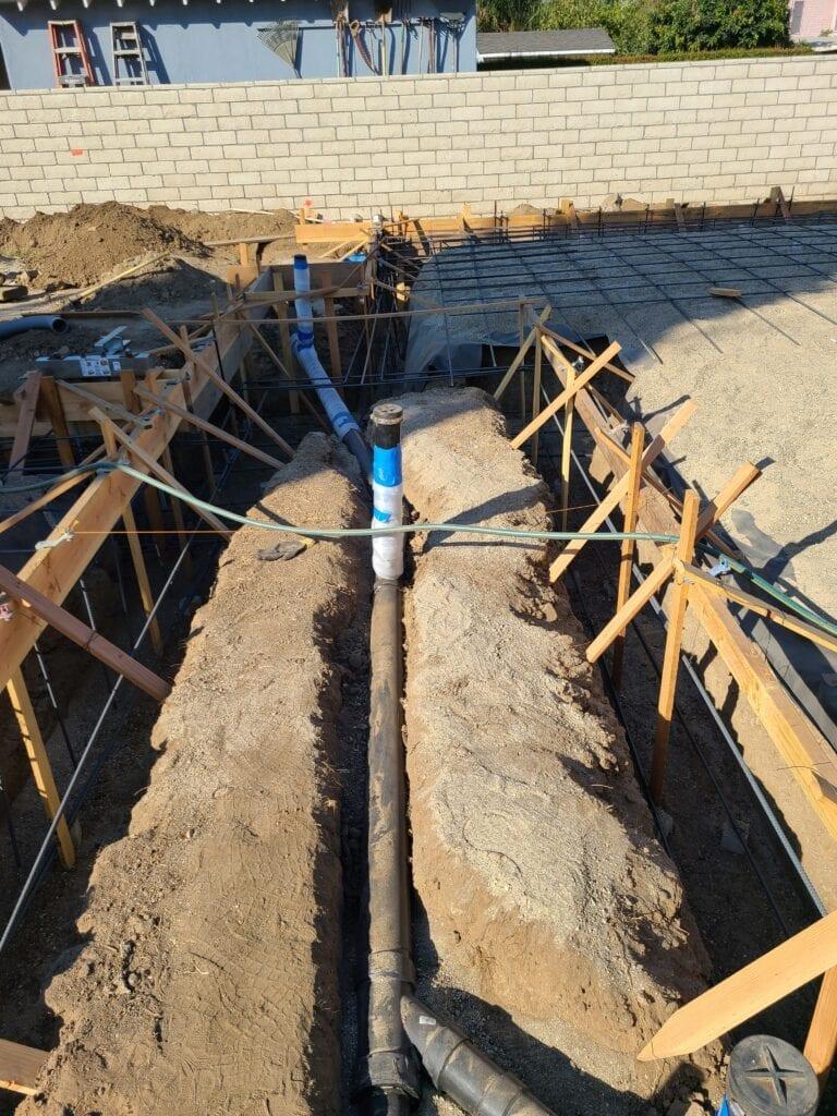 Residential Building-Underground plumbing