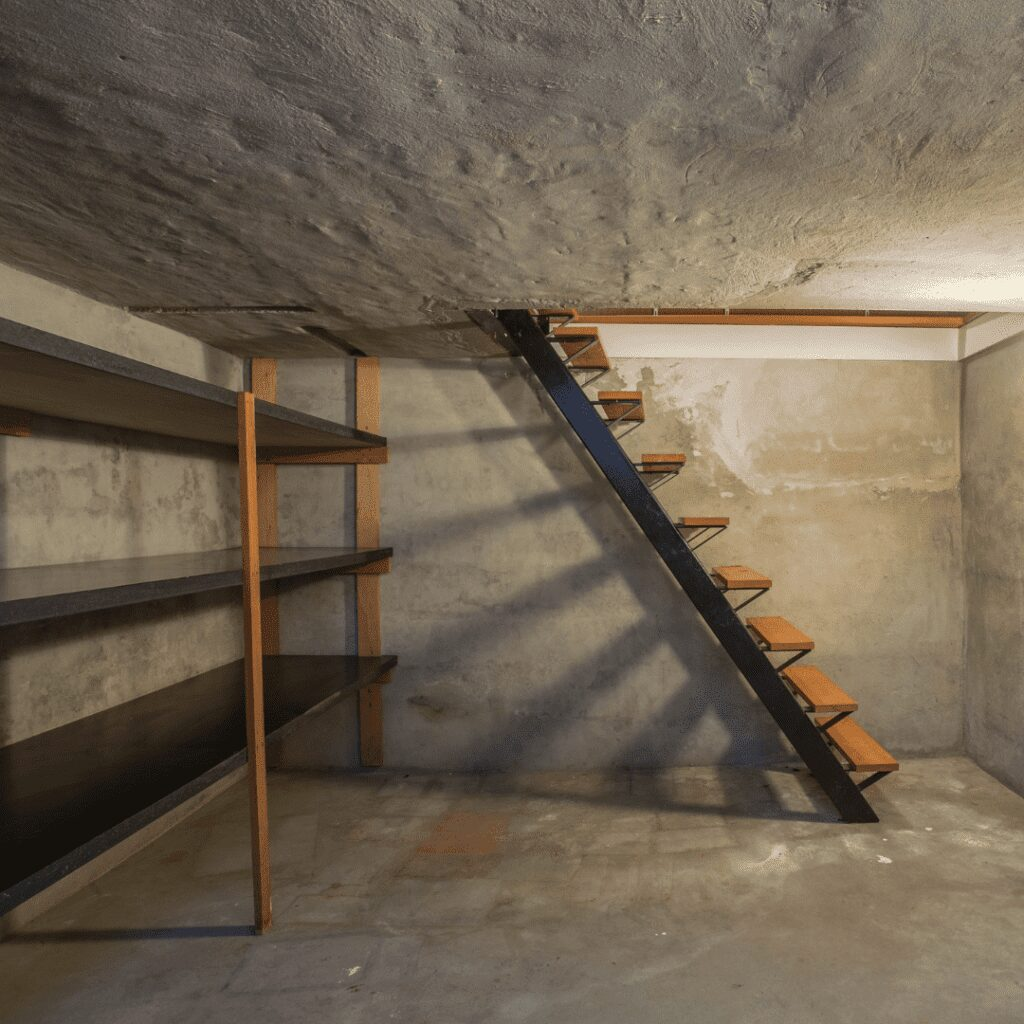 cellar room with shelves