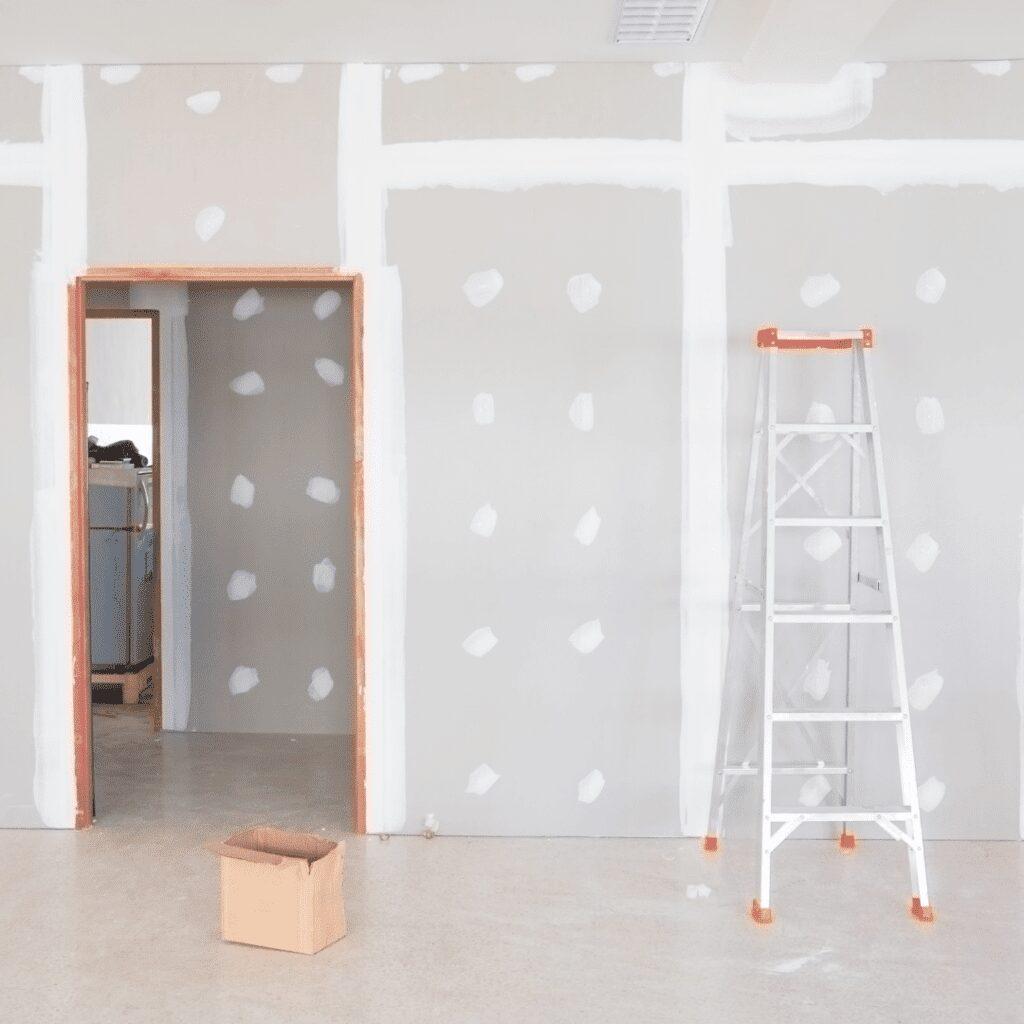 steps of Drywall installation